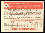 1952 Topps Reprints #131   Morrie Martin Back Thumbnail