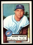 1952 Topps Reprints #131   Morrie Martin Front Thumbnail