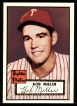 1952 Topps Reprints #187   Bob Miller Front Thumbnail