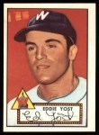 1952 Topps Reprints #123   Eddie Yost Front Thumbnail