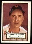 1952 Topps Reprints #385  Herman Franks  Front Thumbnail