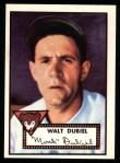 1952 Topps Reprints #164  Walt Dubiel  Front Thumbnail