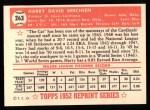 1952 Topps Reprints #263   Harry Brecheen Back Thumbnail