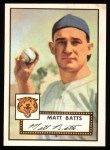 1952 Topps Reprints #230   Matt Batts Front Thumbnail