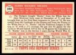 1952 Topps Reprints #390  Rocky Nelson  Back Thumbnail