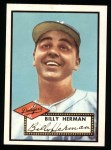 1952 Topps Reprints #394   Billy Herman Front Thumbnail