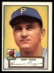 1952 Topps Reprints #12  Monty Basgall  Front Thumbnail