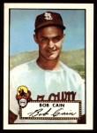 1952 Topps Reprints #349  Bob Cain  Front Thumbnail