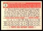1952 Topps Reprints #55  Ray Boone  Back Thumbnail
