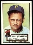 1952 Topps Reprints #167   Bill Howerton Front Thumbnail