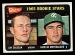 1965 Topps #286   -  Jim Dickson / Aurelio Monteagudo Athletics Rookies Front Thumbnail