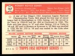 1952 Topps Reprints #157   Bobby Usher Back Thumbnail