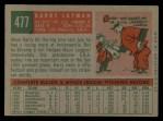 1959 Topps #477  Barry Latman  Back Thumbnail