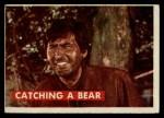 1956 Topps Davy Crockett #3 GRN  Catching a Bear  Front Thumbnail