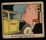 1931 Johnson Candy Dick Tracy #40   Buggs Hailed the Cab Front Thumbnail
