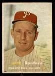1957 Topps #387  Jack Sanford  Front Thumbnail