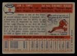 1957 Topps #9  Johnny Temple  Back Thumbnail