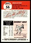 1991 Topps 1953 Archives #56  Gerry Staley  Back Thumbnail