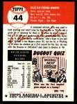 1991 Topps 1953 Archives #44  Ellis Kinder  Back Thumbnail