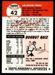 1991 Topps 1953 Archives #42  Gus Zernial  Back Thumbnail