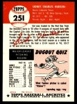1991 Topps 1953 Archives #251  Sid Hudson  Back Thumbnail