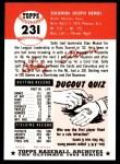 1991 Topps 1953 Archives #231   Solly Hemus Back Thumbnail