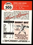 1991 Topps 1953 Archives #205  Vern Benson  Back Thumbnail