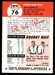 1991 Topps 1953 Archives #76  Pee Wee Reese  Back Thumbnail