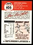 1991 Topps 1953 Archives #105  Joe Nuxhall  Back Thumbnail