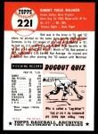 1991 Topps 1953 Archives #221  Bob Milliken  Back Thumbnail