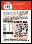 1991 Topps 1953 Archives #173   Preston Ward Back Thumbnail