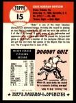 1991 Topps 1953 Archives #15  Bobo Newsom  Back Thumbnail