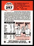 1991 Topps 1953 Archives #297   Roy Smalley Back Thumbnail
