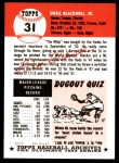 1991 Topps 1953 Archives #31  Ewell Blackwell  Back Thumbnail