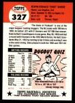1991 Topps 1953 Archives #327  Duke Snider  Back Thumbnail