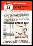 1991 Topps 1953 Archives #35  Irv Noren  Back Thumbnail