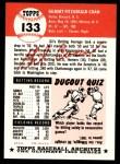 1991 Topps 1953 Archives #133   Gil Coan Back Thumbnail