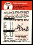 1991 Topps 1953 Archives #8  Clem Koshorek  Back Thumbnail