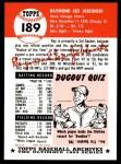 1991 Topps 1953 Archives #189  Ray Jablonski  Back Thumbnail