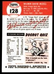 1991 Topps 1953 Archives #128  Wilmer Mizell  Back Thumbnail