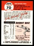 1991 Topps 1953 Archives #70   Ed Yuhas Back Thumbnail