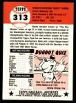1991 Topps 1953 Archives #313  Bucky Harris  Back Thumbnail