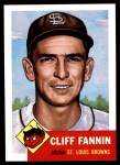 1991 Topps 1953 Archives #203  Cliff Fannin  Front Thumbnail