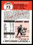 1991 Topps 1953 Archives #73  Eddie Robinson  Back Thumbnail