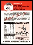 1991 Topps 1953 Archives #68  Del Rice  Back Thumbnail