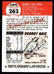 1991 Topps 1953 Archives #262   Bob Oldis Back Thumbnail
