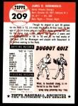 1991 Topps 1953 Archives #209   Jim Greengrass Back Thumbnail