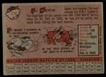 1958 Topps #170  Vic Wertz  Back Thumbnail