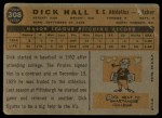 1960 Topps #308  Dick Hall  Back Thumbnail