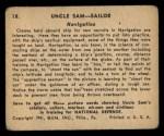 1941 Gum Inc. Uncle Sam Home Defense #18   Navigation Back Thumbnail